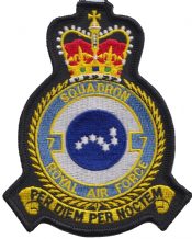 No. 7 Squadron Royal Air Force RAF Crest MOD Embroidered Patch